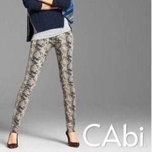 cabi Snake Skin Print Jean.